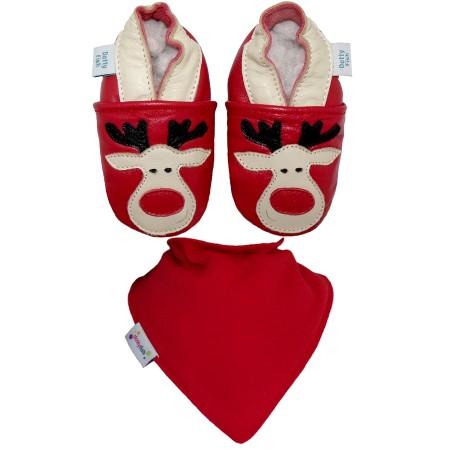 Dottyfish - Confezione Regalo Ciabattine Rudolph e Bandana Bib
