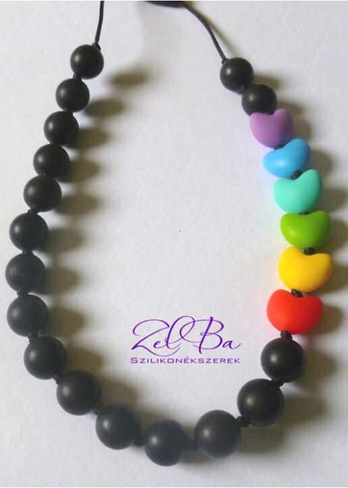 ZELBA - Collana allattamento cuore arcobaleno