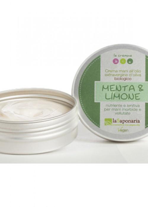 La Saponaria - Crema mani Menta e Limone