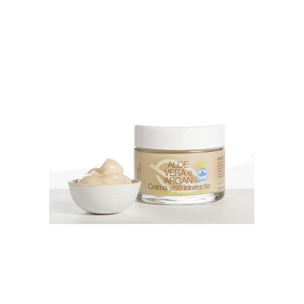 La Saponaria - Crema Viso Idratante Aloe Vera e Argan