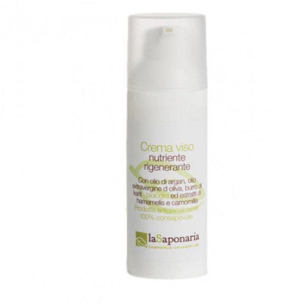 La Saponaria - Crema Viso Nutriente Argan e Extravergine