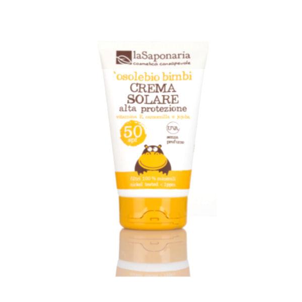 La Saponaria - 'osolebio bimbi - Crema Solare Alta Protezione SPF 50