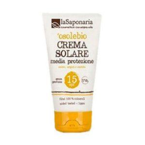 La Saponaria - 'osolebio - Crema Solare MediaProtezione SPF 15