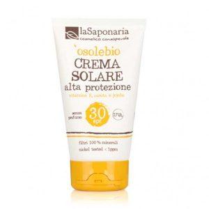 La Saponaria - 'osolebio - Crema Solare Alta Protezione SPF 30
