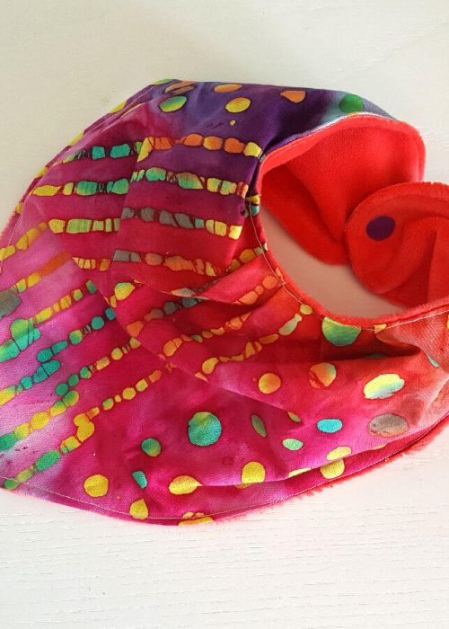 Bavaglino Bandana Handmade Pink Batik