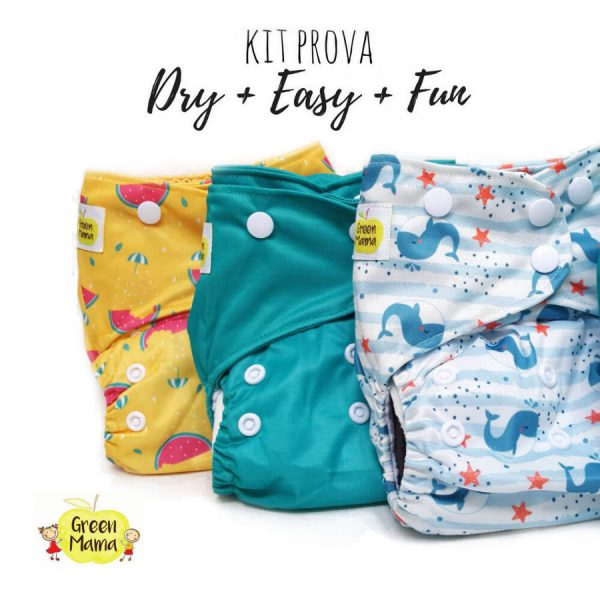 KIT PROVA - Pannolini Lavabili Pocket Green Mama
