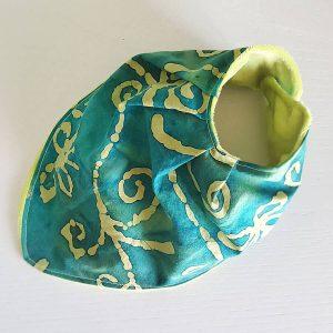 bandana-bib-handmade-green-batik
