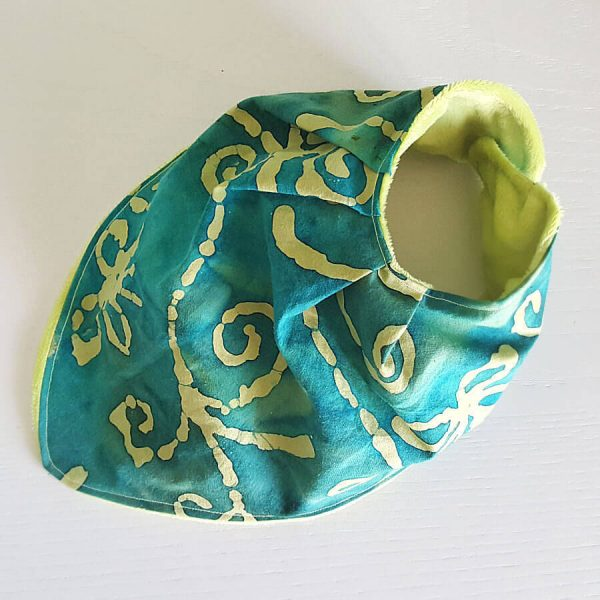 Bavaglino Bandana Handmade Green Batik