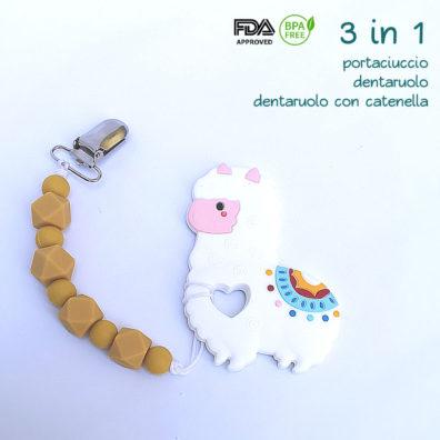 3 in 1 - Portaciuccio e Dentaruolo Lama e Giallo