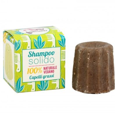 Shampoo solido per capelli grassi alla verbena