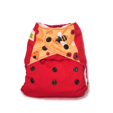 green mama pannolini lavabili pocket FUN bee red