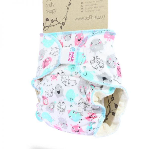 Petit Lulu - Fitted Taglia Unica Velcro Ghosts